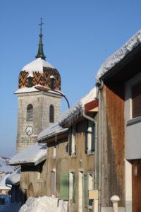 Rochejean Rue st Jean + église