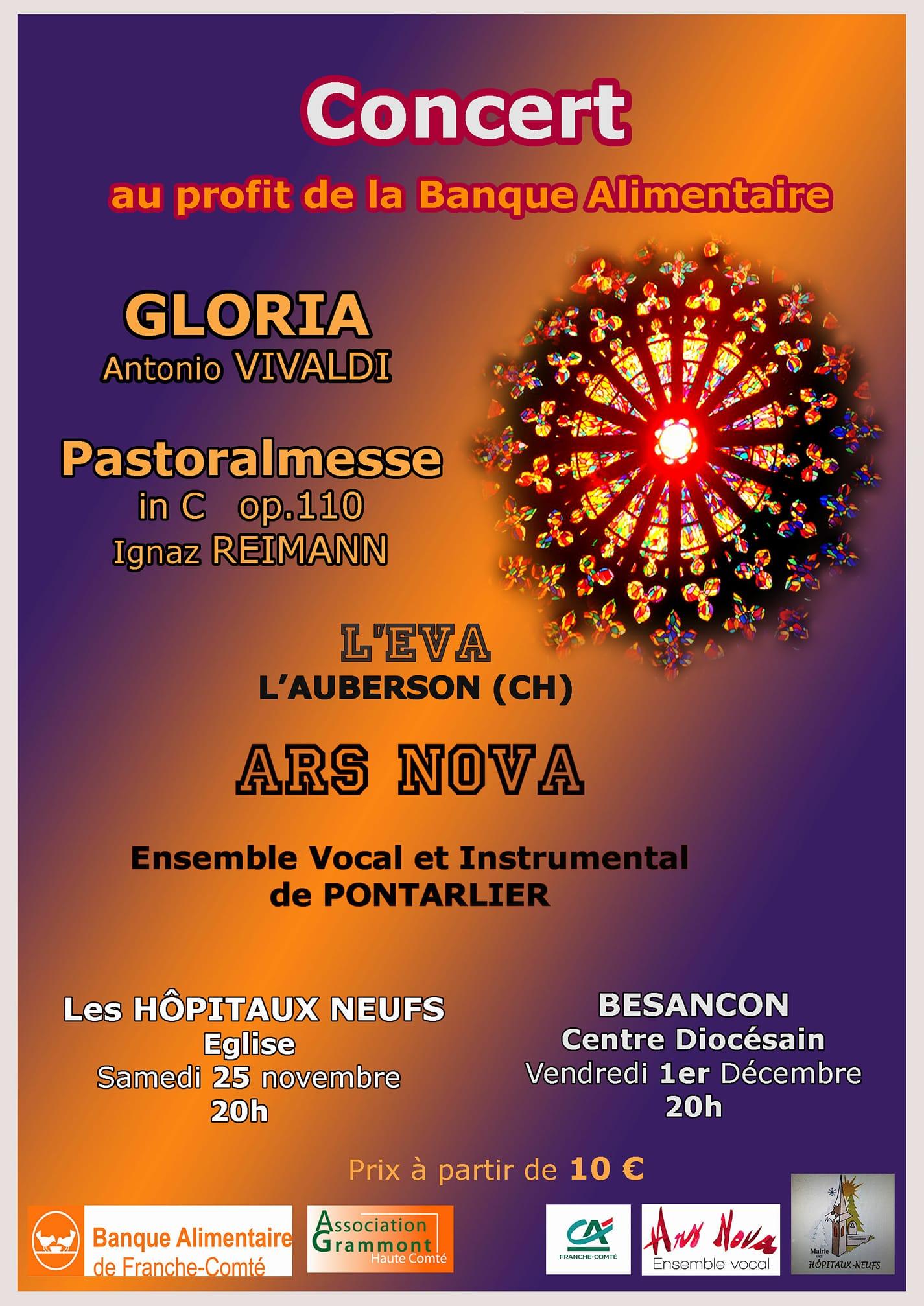 Concert de la Ste Catherine à l'Eglise des Hôpitaux-Neufs