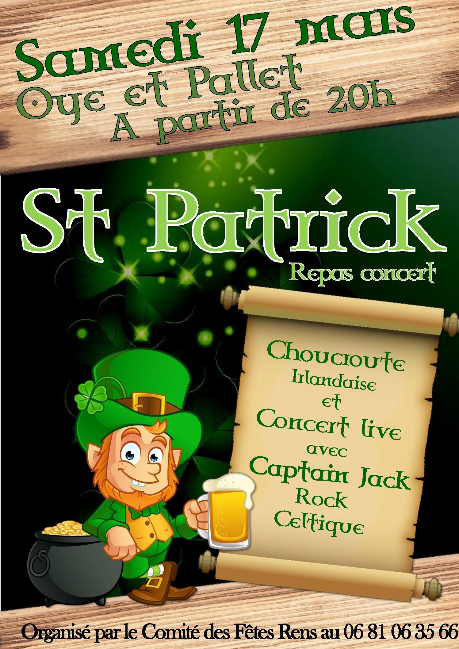 Repas Concert St-Patrick à partir de 20h00