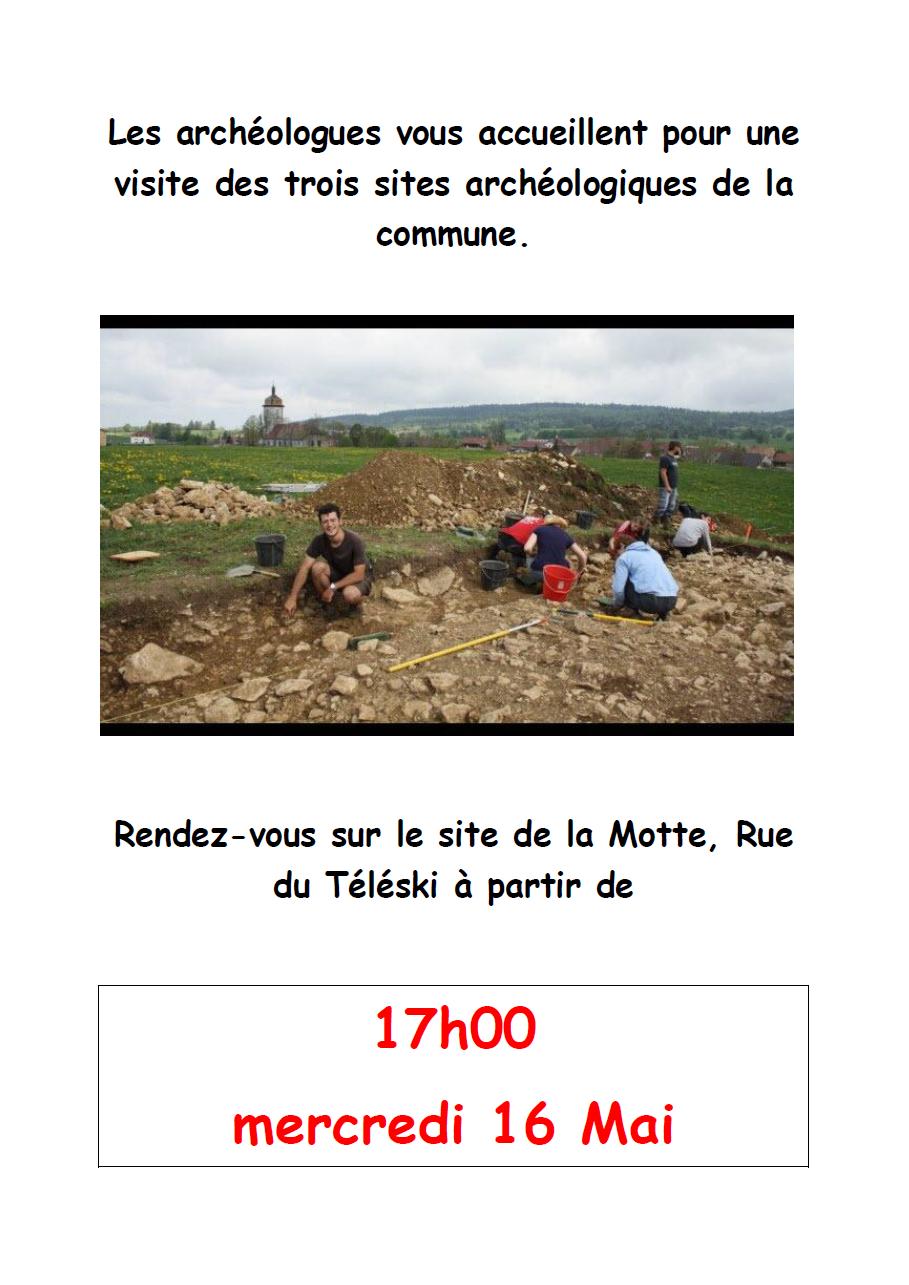 Visite des 3 sites archéologiques de la commune